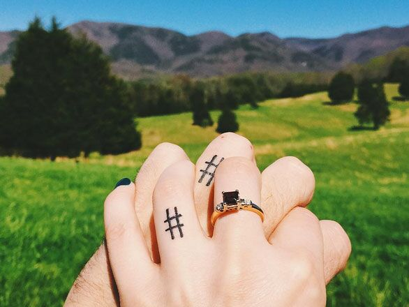 40 Sweet Wedding Ring Tattoo Ideas Youll Want To Copy