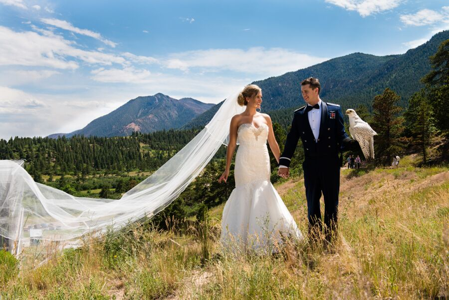 A Summer Military Wedding At The Us Air Force Academy In