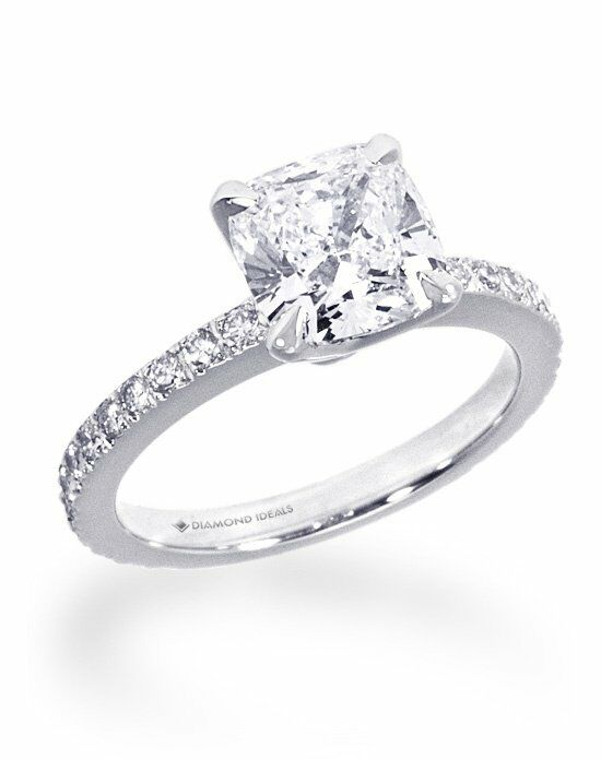 Diamond Ideals Custom Nouveau-Style Cushion Engagement Ring Engagement Ring photo