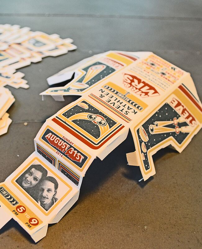 These 3D Arcade Wedding Invitations Are Completely Awesome