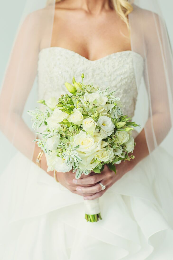 White And Green Lisianthus Bridal Bouquet