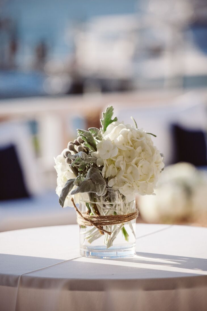 Hydrangea and Brunia Berries Centerpiece