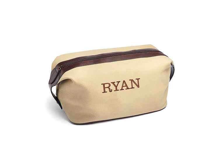 ​The Knot Shop canvas dopp kit inexpensive groomsmen gift