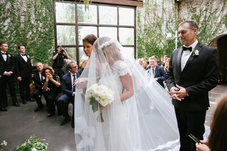 Reem Acra Cathedral Length Blusher Veil