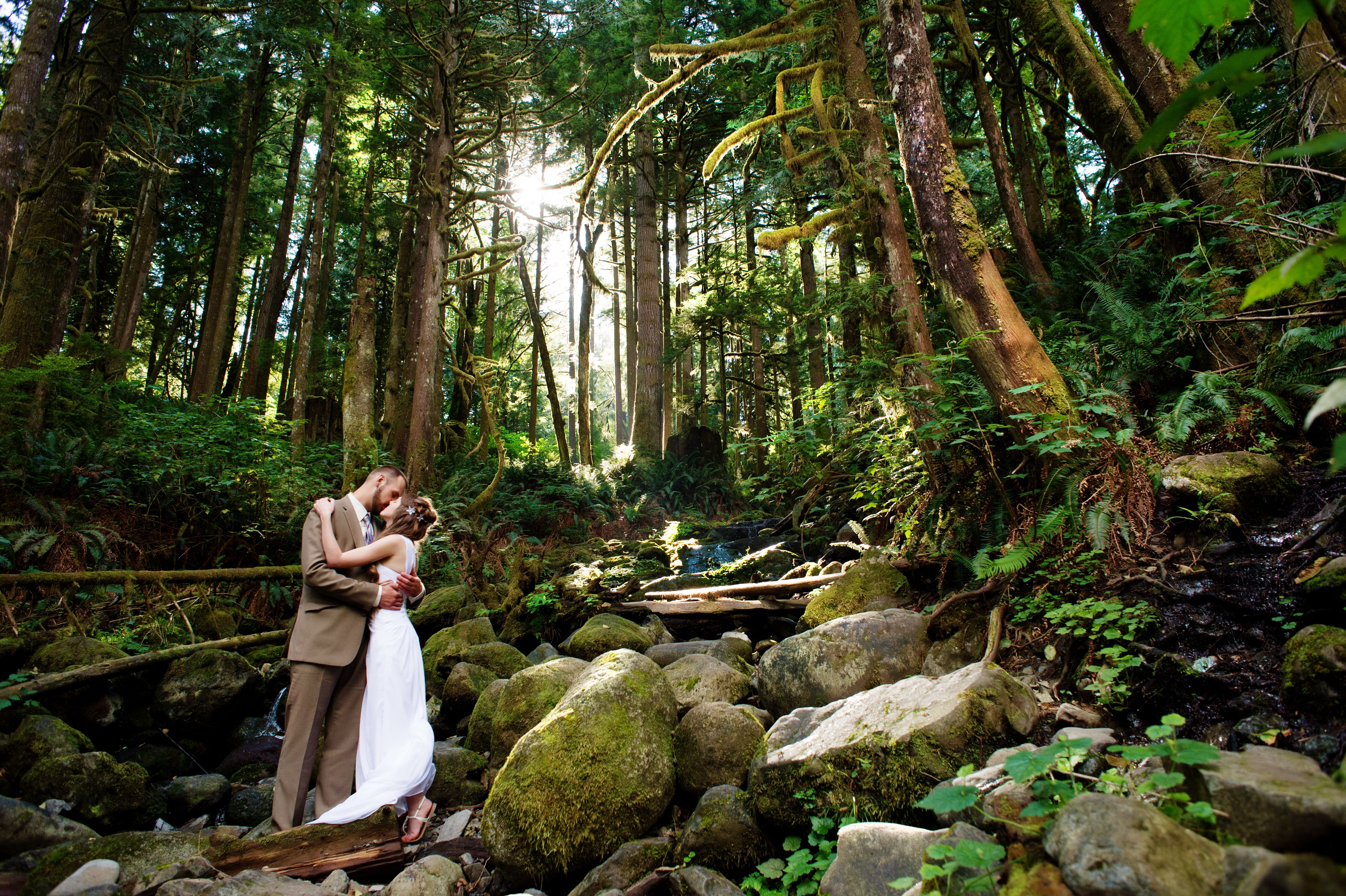 An Intimate Forest Wedding At Wallace Falls State Park In