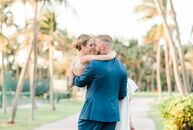 Chelsea Briche (27 and a blogger) and Robby Scott (28 and a professional baseball player) tied the knot in a beach-chic soiree on the sandy shores of