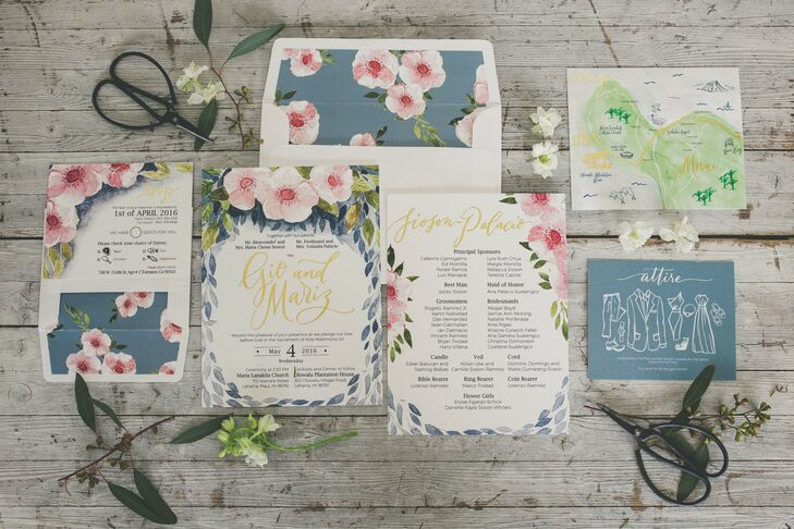 Custom Watercolor Floral Invitations