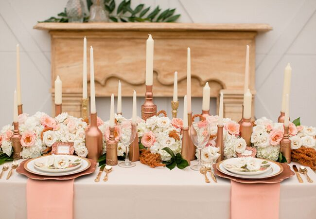 6 Rose Gold Metallic Wedding Ideas