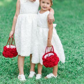 Flower girl baskets red floral flower girl baskets mightylinksfo