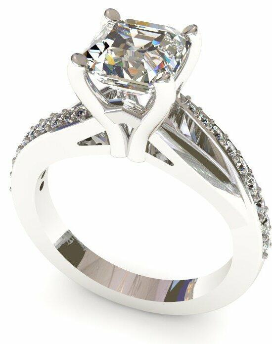 Enchanted Diamonds Pave Bypass Asscher MP18-4W-A Engagement Ring photo