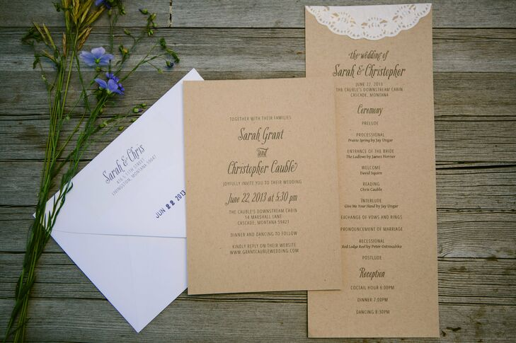 Sarah and Christopher chose a neutral invitation suite combined with lace details.