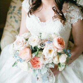 Bride S Garden Themed Bouquet Of Roses