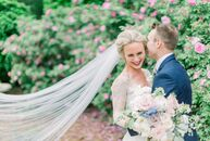 With soft flower arrangements and colors, Sarah Schmidt and Andre Kedzierski's wedding embraced the spring season. The ceremony took place at The Matt