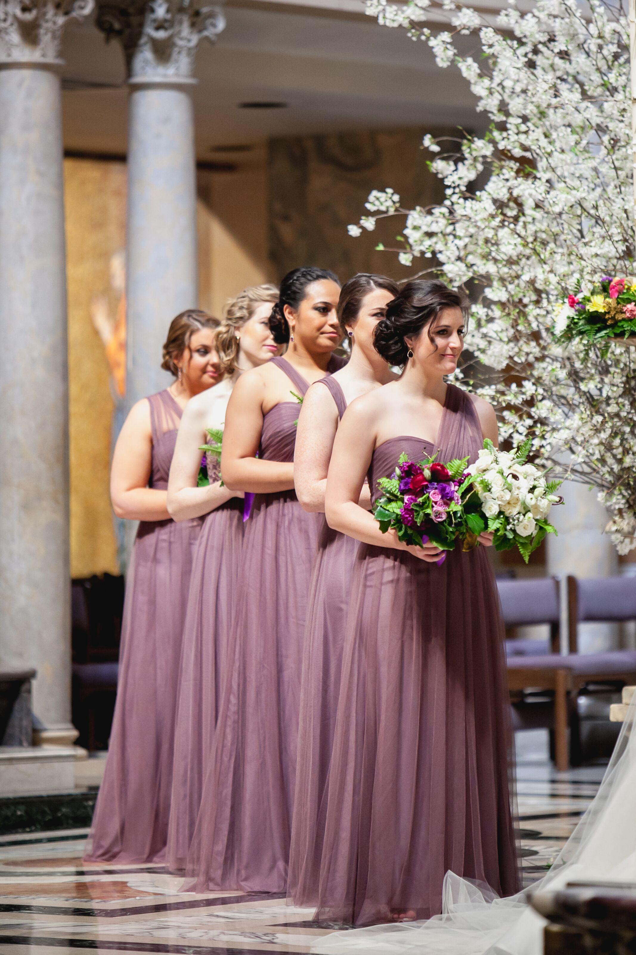 Floor Length Soft Purple Bridesmaid Dresses