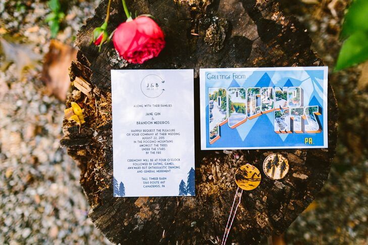 Pocono MountainsThemed Wedding Invitation