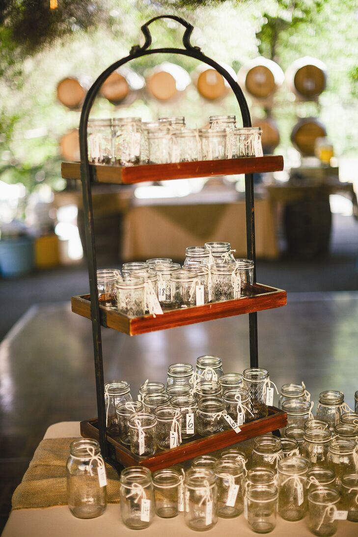 DIY Mason Jar Escort Cards