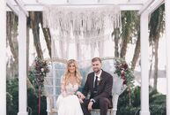 """We wanted to play up the outdoor space and have a very natural, bohemian feel to our wedding,"" Kendall Kohl (25 and a sales representative ) says of"