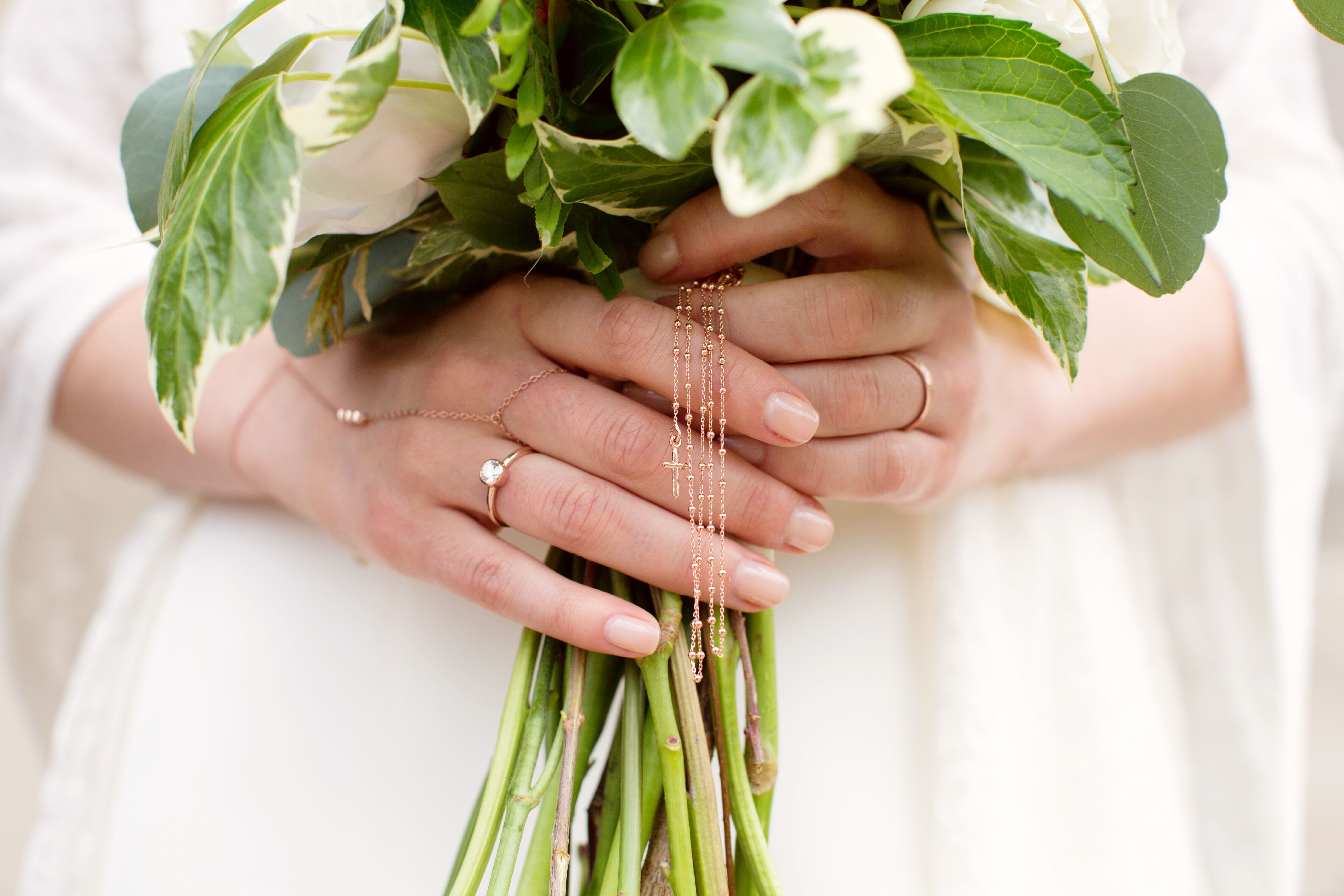 Delicate Gold Bohemian Bridal Jewelry And Hand Chain
