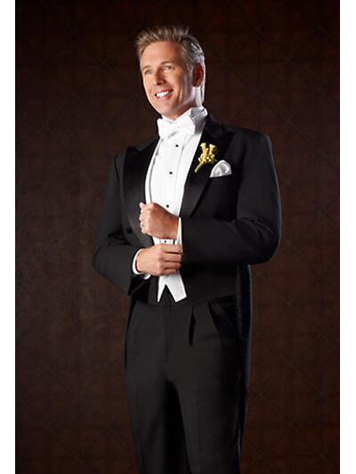 White Tuxedo Jacket With Black Lapel