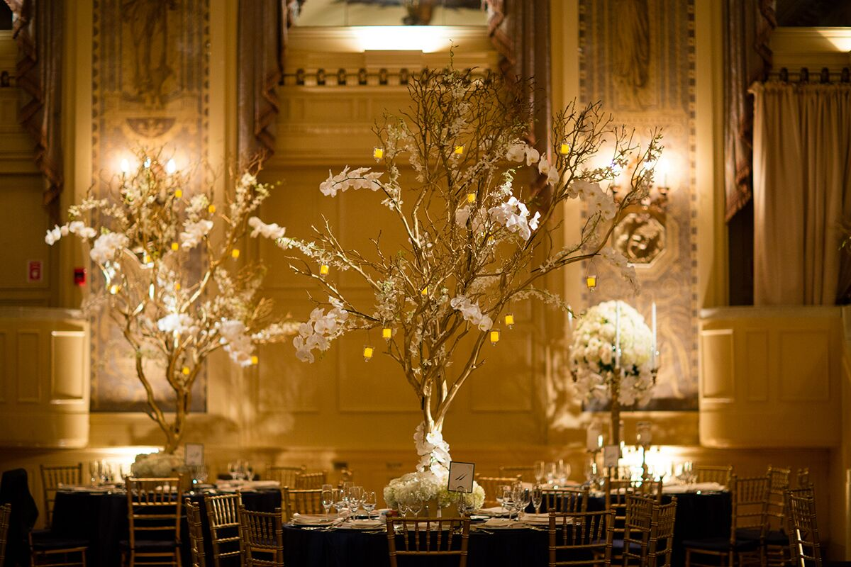 Gold Manzanita Tree Centerpieces