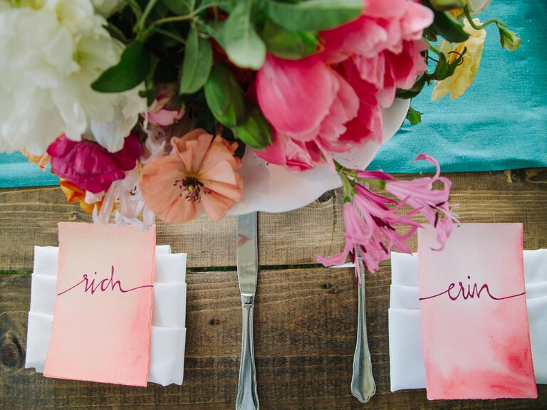 Wedding reception name tags for seating