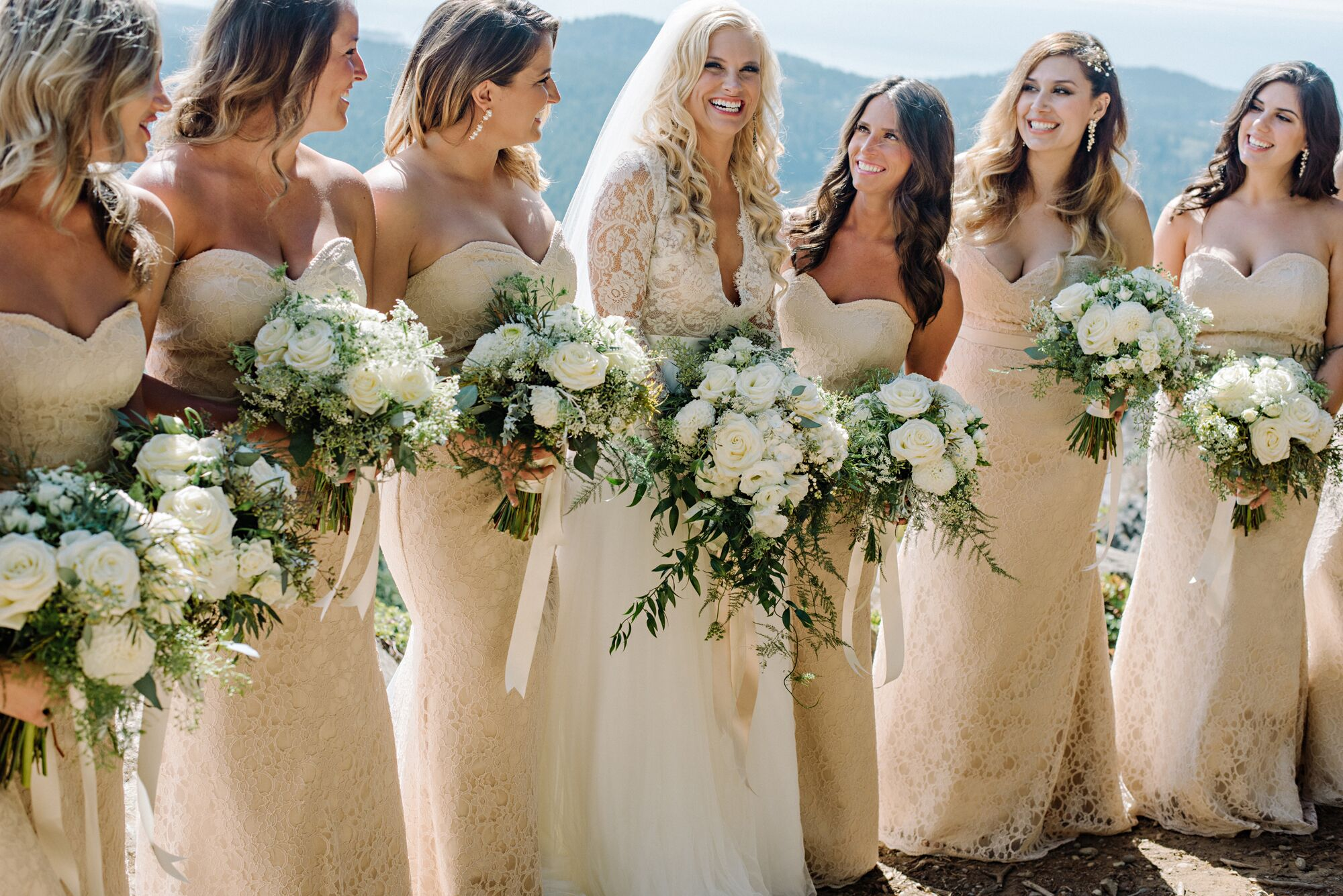 Real Bridesmaids In Our Stunning And Elegant Bridesmaid: Elegant Champagne Gold Bridesmaid Dresses