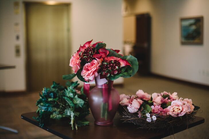 Garden Rose Ivy And Peony Accents