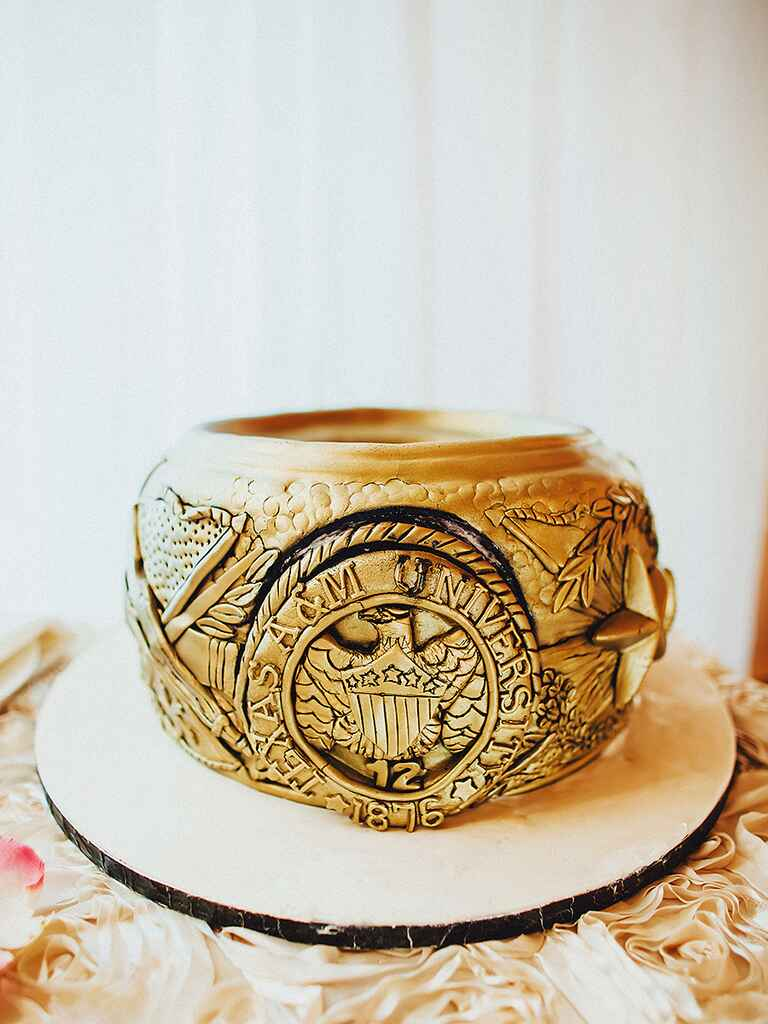 Texas A&M Aggie ring idea for a cool groom's cake