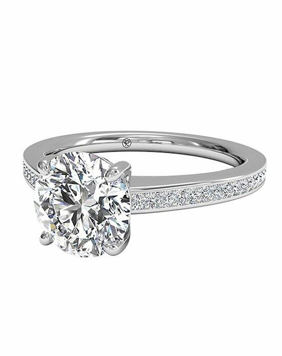 Ritani Round Cut Diamond Micropavé Band Engagement Ring in Platinum (0.20 CTW) Engagement Ring photo