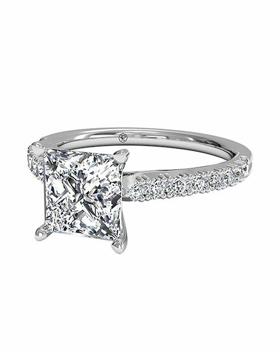 Ritani Princess Cut French-Set Diamond Band Engagement Ring in Platinum (0.23 CTW) Engagement Ring photo