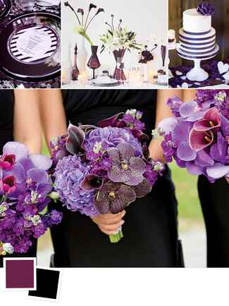 Eggplant and black wedding colors