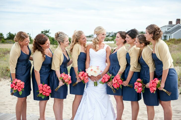 Navy J Crew Bridesmaid Dresses