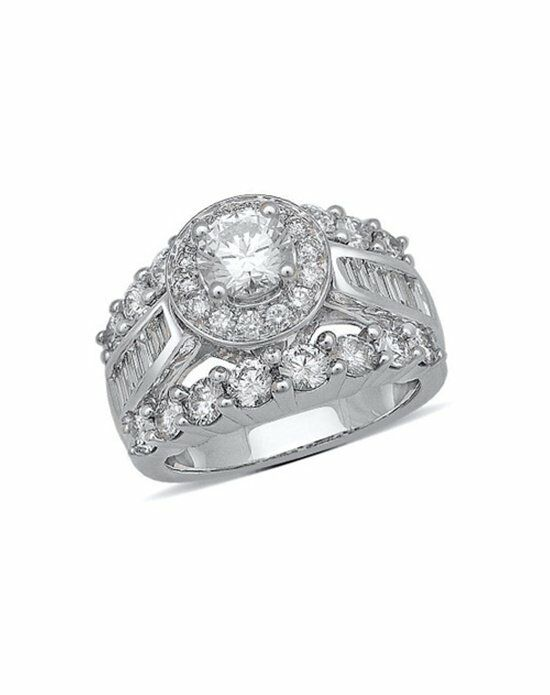 Zales 2-1/2 CT. T.W. Certified Framed Princess-Cut Diamond Engagement Ring in 14K White Gold  18294157 Engagement Ring photo