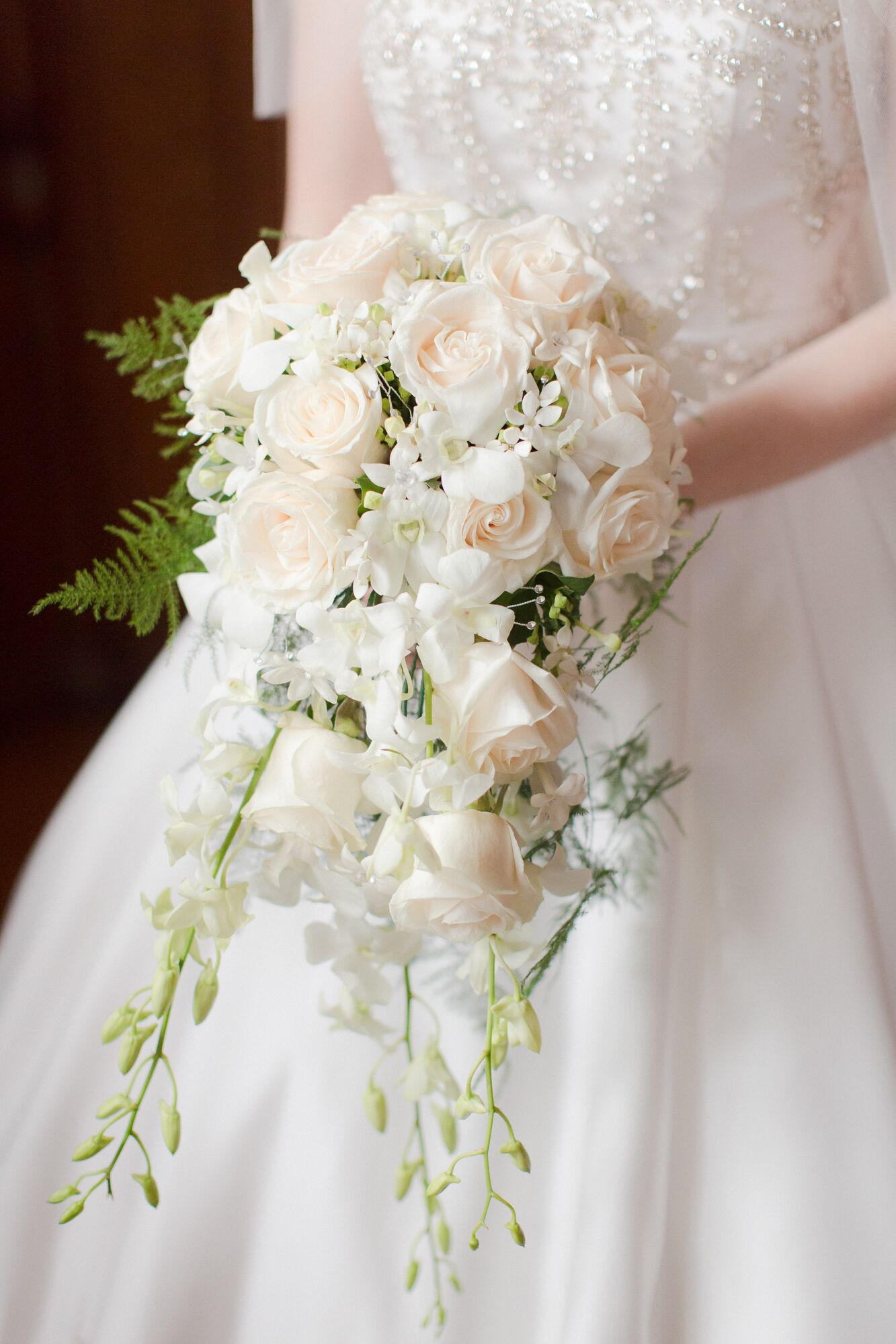 Princess Diana Inspired Cascading Bridal Bouquet