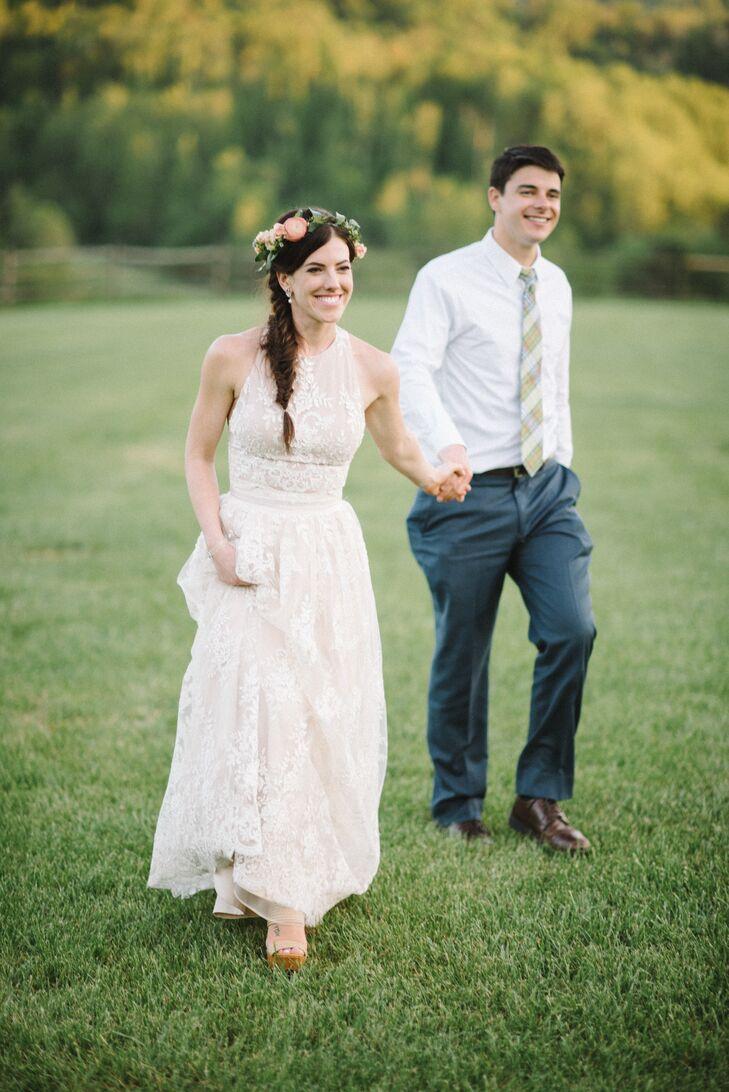 lace halter alice olivia wedding dress. Black Bedroom Furniture Sets. Home Design Ideas