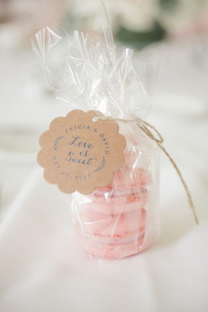 Pink Macaron Wedding Reception Favors