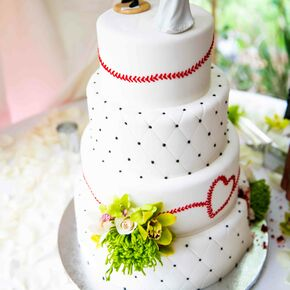 Red wedding cakes baseball inspired white wedding cake junglespirit Image collections