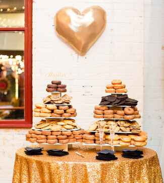 donut cookie tower wedding dessert