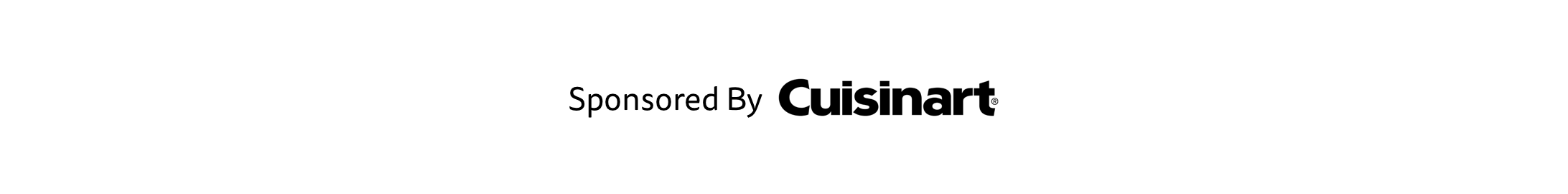 Sponsored By Cuisinart