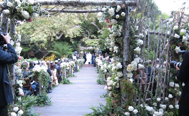 Wooden Ceremony Aisle