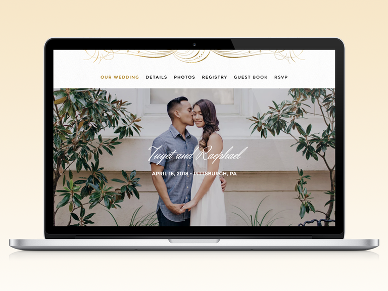 The Knot Wedding Website Template