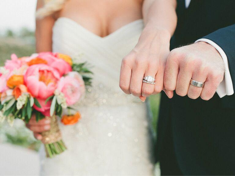 Making It Legal Newlyweds Showing Wedding Rings