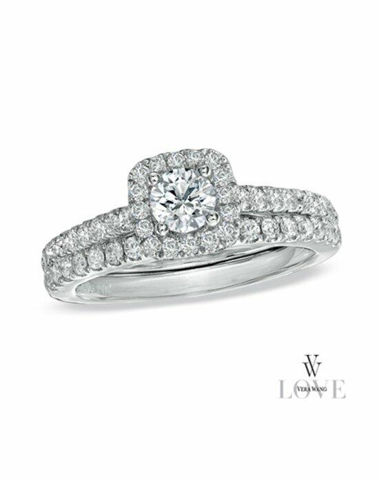 Vera Wang LOVE at Zales Vera Wang LOVE Collection 1 CT. T.W. Diamond Frame Bridal Set in 14K White Gold  19958259 Engagement Ring photo