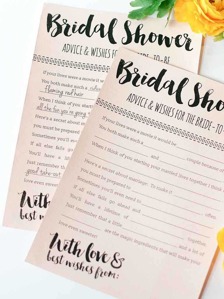 Ambitious image in bridal shower games printable