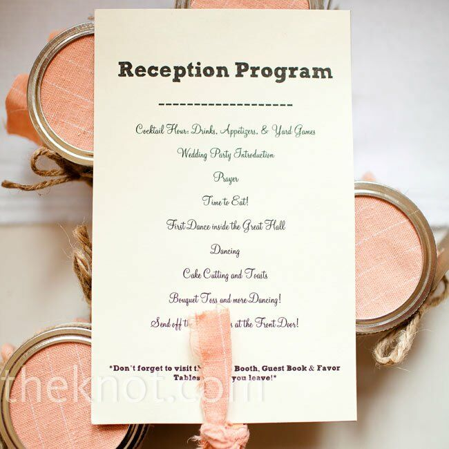 Order Of Wedding Reception.White Reception Programs