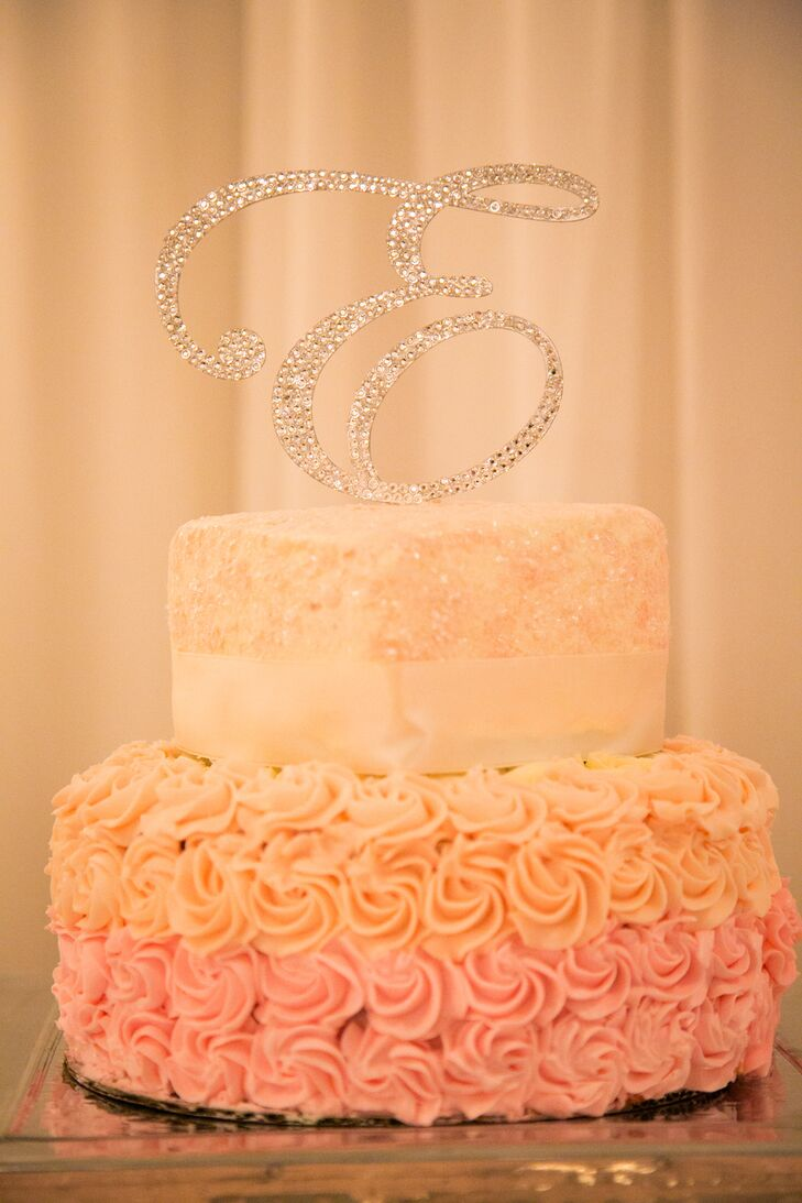 Pink And Ivory Wedding Cakes