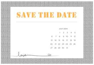 Universal image intended for save the date printable