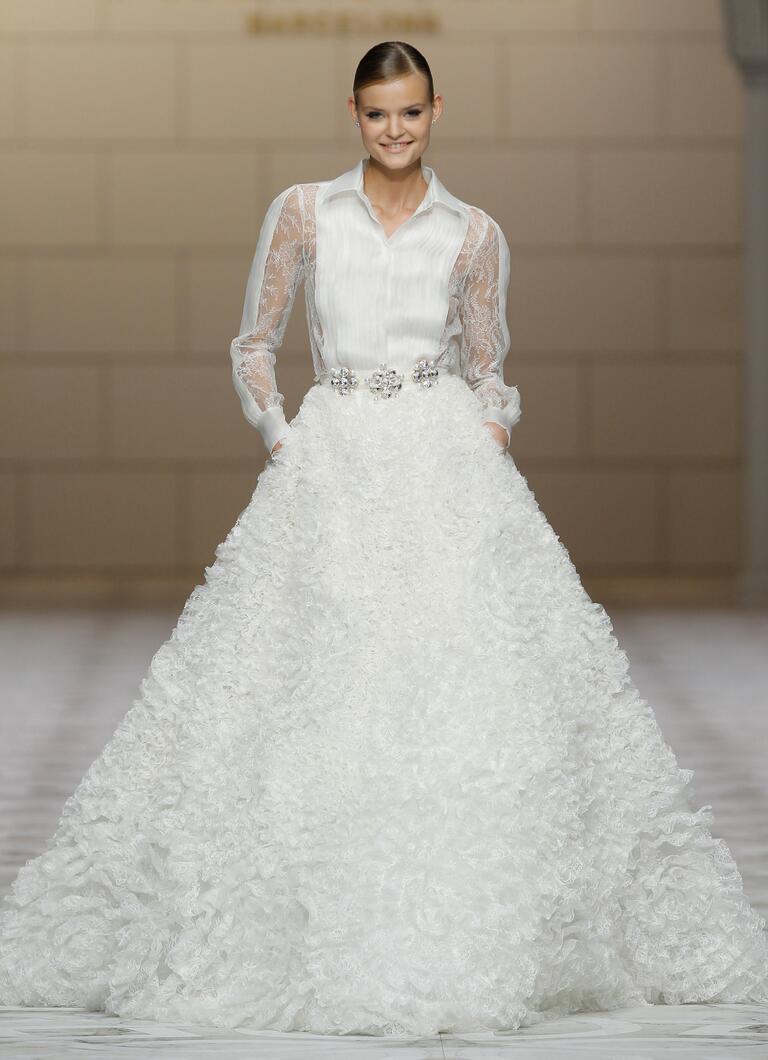 Ball gown Pronovias wedding dress