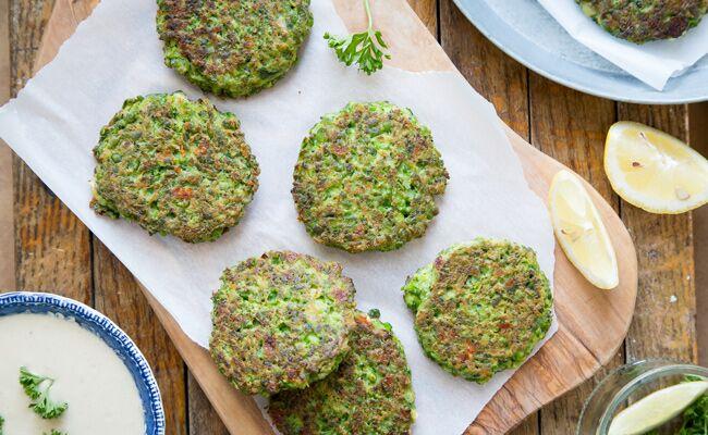 Gluten Free Pea and Broccoli Fritters Recipe