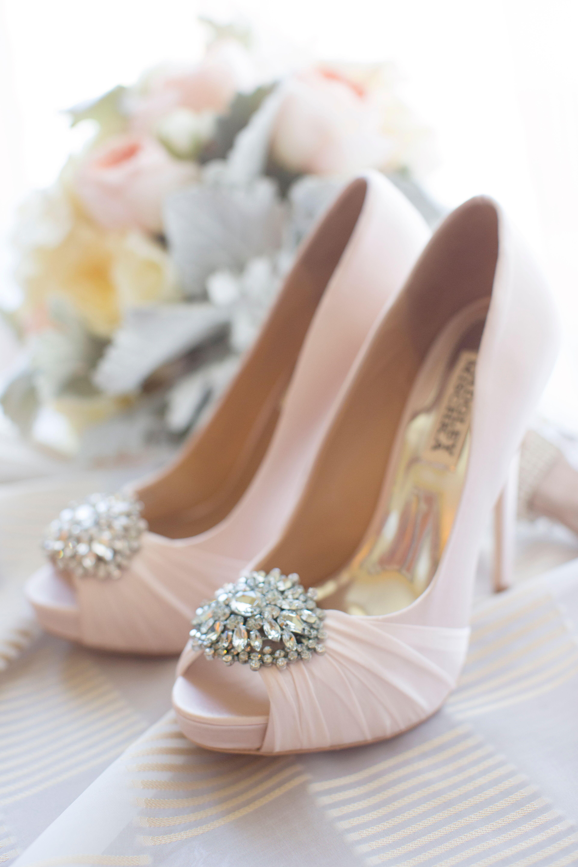 best deals on attractive price sold worldwide Badgley Mischka Blush Wedding Shoes